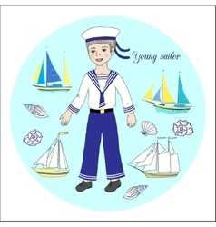 Young sailor vector image