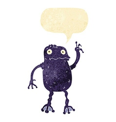 Cartoon poisonous frog with speech bubble vector