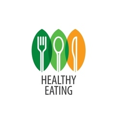 Logo healthy eating vector