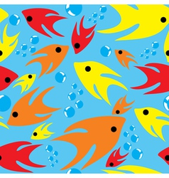 Seamless cartoon fishes vector