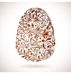 Abstract Easter egg floral ornament vector image vector image