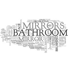 Bathroom mirrors text word cloud concept vector
