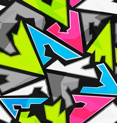 bright geometric triangle seamless pattern vector image