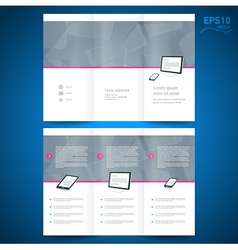 Brochure folder leaflet computer technology vector