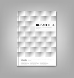 Brochures book or flyer with a paper square mosaic vector