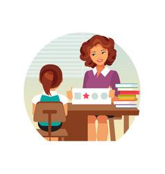 Child psychologist vector