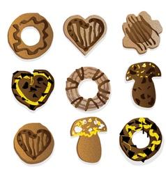 Chocolate goodies vector