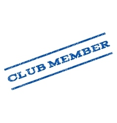 Club member watermark stamp vector