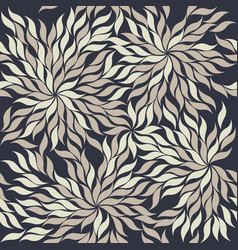 contrast seamless pattern with abstract flowers vector image