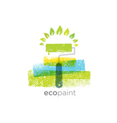 Eco paint grunge brush creative rough vector