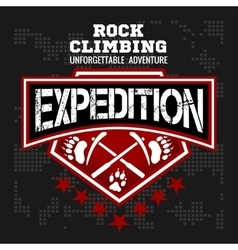 Expedition Mountain climbing Climber vector image vector image