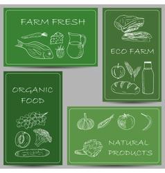 Farm banners doodles vector