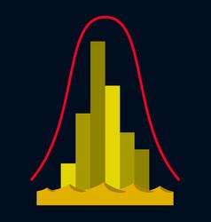 Flat icon on theme arabic business economic vector