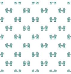 Gardening gloves pattern seamless vector