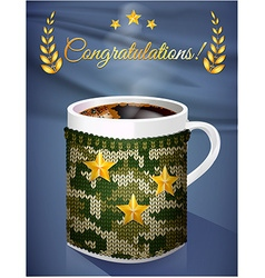Greeting card mug vector image