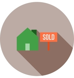 House sold vector