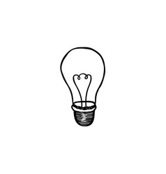 lamp bulb isolated over white background light vector image vector image