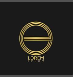 letter e emblem vector image vector image