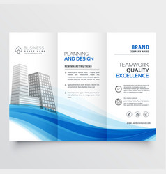 Modern trifold brochure design layout template vector