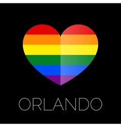 Orlando tragedy gay colors heart shape on black vector