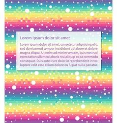rainbow text vector image vector image