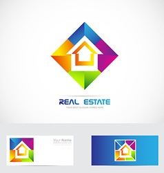 Real estate colorful logo vector image vector image