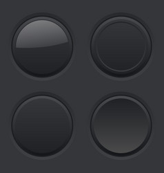 round buttons normal pushed active hover vector image vector image
