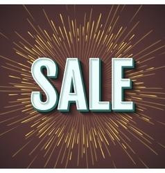 Sale inscription design template Sale banner vector image vector image
