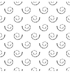 Seamless black and white background from spirals vector