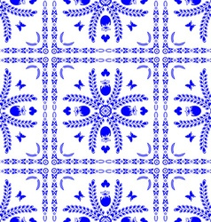Seamless pattern in the style of Dutch tiles vector image vector image