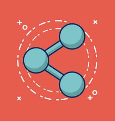 share symbol icon vector image
