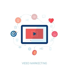 Social video viral marketing flat icon vector