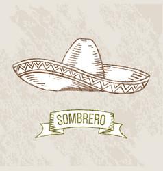 Sombrero hand-drawing vector