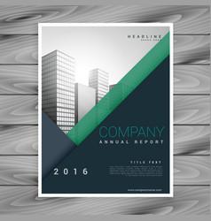 stylish modern minimal business brochure flyer vector image vector image