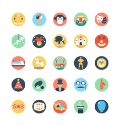 Circus colored icons 2 vector