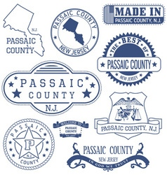 Passaic county new jersey stamps and seals vector