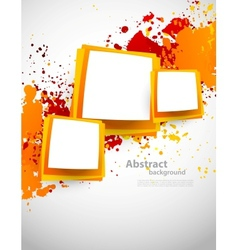 Abstract grunge background with squares vector image