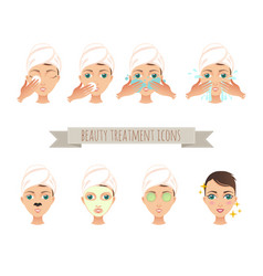 Beauty treatment face care mask vector