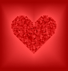Diamond red heart vector
