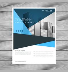 Abstract geometric blue brochure flyer design vector