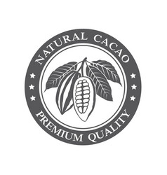 cocoa beans stamp vector image