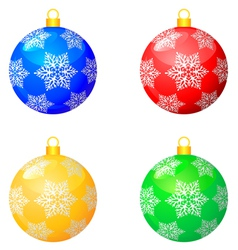 Christmas pattern balls vector