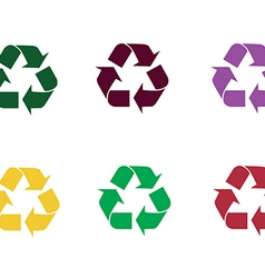 Set of recycle sign vector