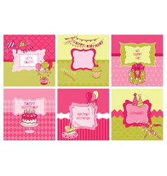 Set of cards - birthday and party theme vector