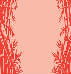 Background sketch of oriental bamboo vector