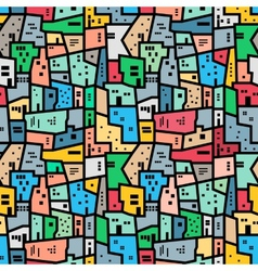 Brazilian favela bright colored seamless pattern vector
