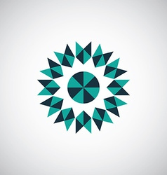 Abstract geometrical symbol logo vector