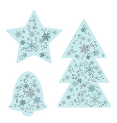 Christmas background elements vector