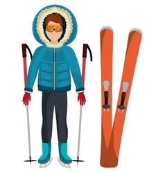 Winter wear clothes and accesories vector