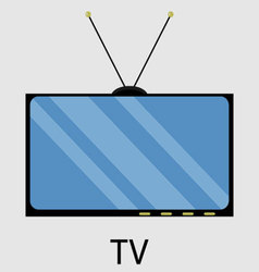 Tv icon flat design vector
